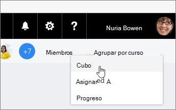 Grupo de cambios por para cubo