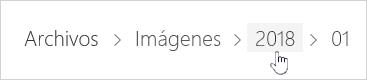 Seleccionar una carpeta de OneDrive