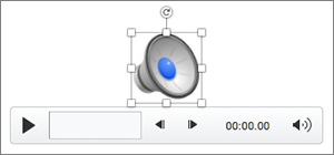 Control de audio con el icono de altavoz seleccionado