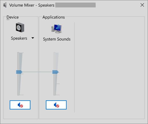 Mezclador de volumen con controles de volumen silenciados