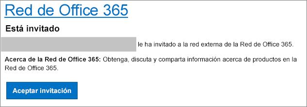 Aceptación de correo electrónico de red externa