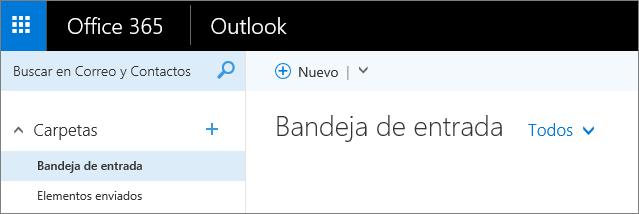 Una imagen del aspecto de la cinta de opciones de Outlook en la web.