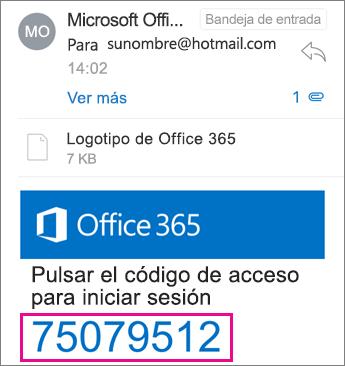 Visor de OME - recibido el código de acceso