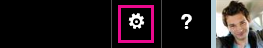 Seleccione Configuración en el encabezado de Office365.