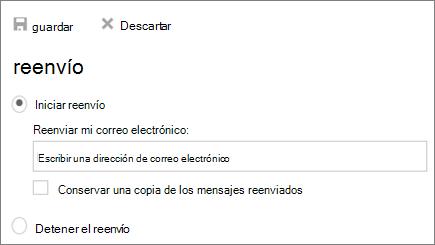 Una captura de pantalla muestra el cuadro de diálogo de desvío de llamadas con el inicio de reenvío opción seleccionada.