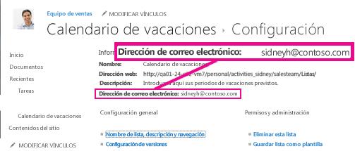 Agregar archivos mediante un correo electrónico
