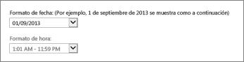 Configuración del formato de fecha y hora de Outlook Online