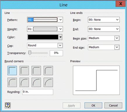 Cuadro Formato de línea