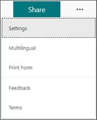 Menú Configuración para agregar idiomas