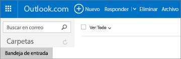 El aspecto de la cinta de opciones cuando tiene Outlook.com o Hotmail.com