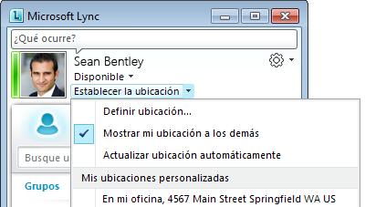 Mostrar ubicación en Lync