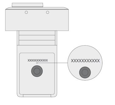 Cámara web moderna de Microsoft con número de serie