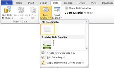 Seleccione Sin gráfico de datos para quitar un gráfico de datos de la forma.