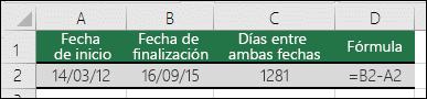 Cálculo de diferencias entre fechas
