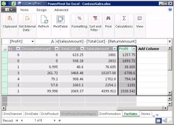 Columnas calculadas en PowerPivot