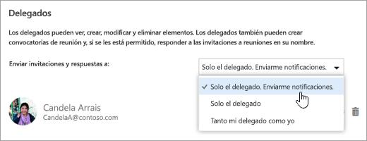 """Captura de pantalla del cuadro de diálogo """"Compartir este calendario""""."""