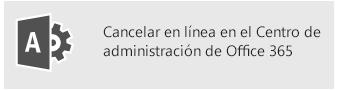 Cancelar en línea en el Centro de administración de Office 365