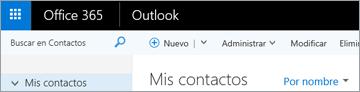 El aspecto de la cinta de opciones cuando tiene Outlook en la web.