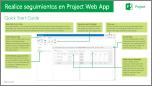 Seguimiento del trabajo en Project Online, Guía de Inicio rápido