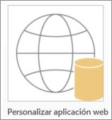 Icono de aplicación web personalizada de Access