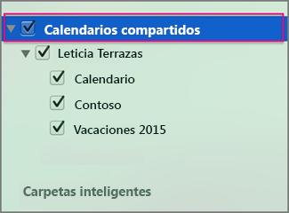 Calendarios compartidos