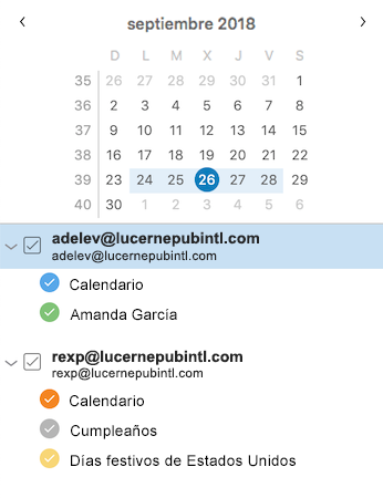 Barra lateral del calendario mejorada