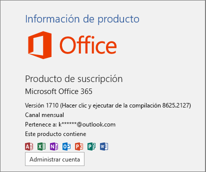 Compilación normal de Office 365