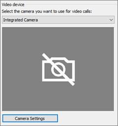 Configuración de cámara de dispositivo de vídeo