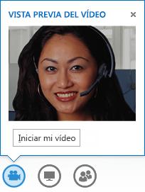 Captura de pantalla de vídeo de inicio para un mensaje instantáneo