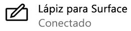 Windows indica que el lápiz digital está conectado al equipo PC