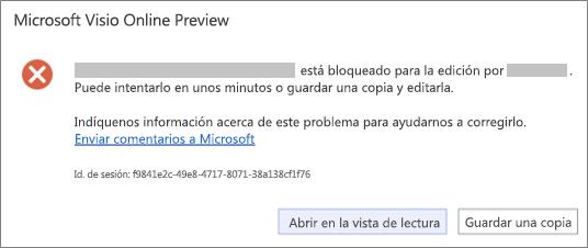 Mensaje de archivo bloqueado