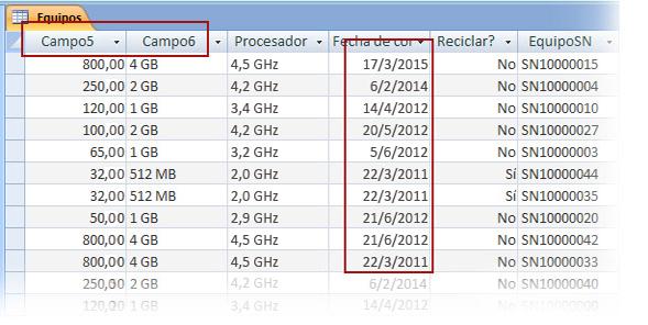 Comprobar los datos importados