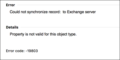 Error de sincronización