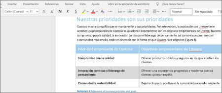 Aplicar formato al texto en Word Online