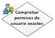 Comprobar permisos de usuario exactos