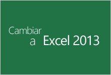 Actualización a Excel 2013