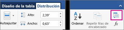 En la pestaña Insertar, Convertir texto en tabla está resaltado