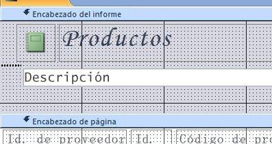 informe en vista Diseño con salto de página