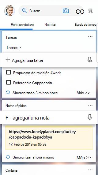 Captura de pantalla que muestra la tarjeta de tareas en la fuente del iniciador