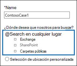 Haga clic en la búsqueda en todas partes opción para buscar todas las ubicaciones de contenido