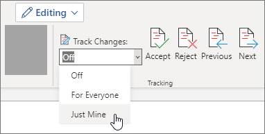 Activa Control de cambios para Just Mine.