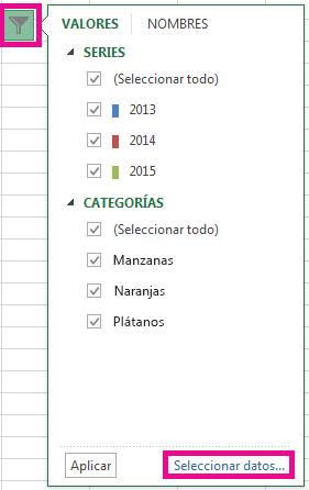 """Haga clic en """"Seleccionar datos""""."""