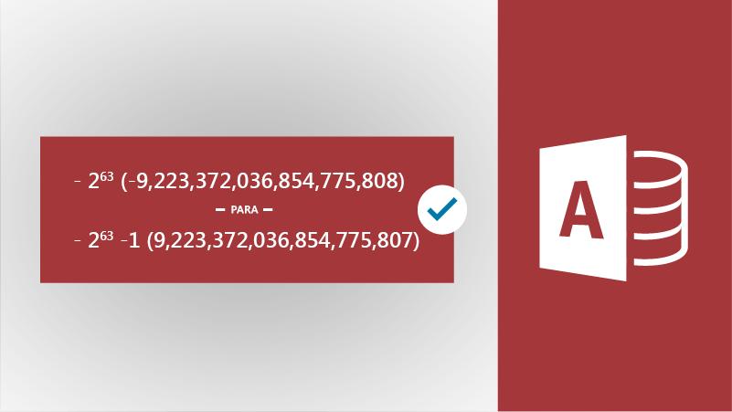 Ilustración con icono de Access y números grandes