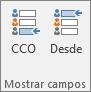 Para desactivar el cuadro CCO, abra un mensaje nuevo, elija la ficha Opciones y, en el grupo Mostrar campos, elija CCO.