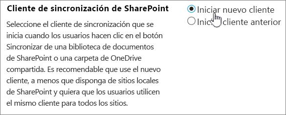 Configuración de administración para el cliente de sincronización de OneDrive