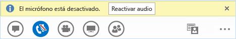 Botón Desactivar en Lync