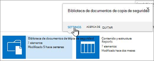 Botón Configuración del cuadro de diálogo