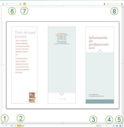 Vista preliminar en Publisher 2010