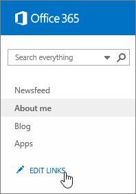 Editar vínculo de vínculos en la barra de inicio rápido