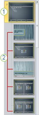 Seleccionar un diseño debajo del patrón de diapositivas asociado